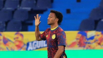 Juan Guillermo Cuadrado, extremo de la selección Colombia.