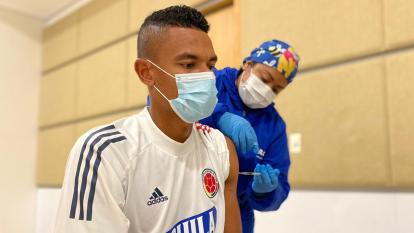 William Tesillo fue vacunado en Barranquilla contra el covid-19 antes de la Copa América.