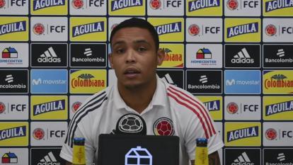 El delantero Luis Fernando Muriel habló este martes en rueda de prensa.