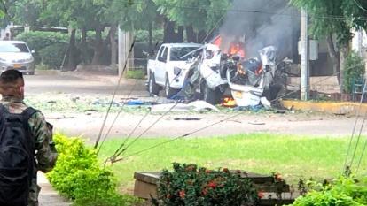 Imágenes previas al atentado en la Brigada 30 de Cúcuta