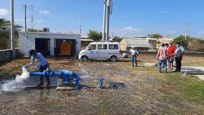 A punto de entrar en operación acueducto de Camarones