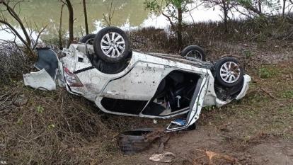 Automóvil se volcó en la Troncal del Caribe de camino hacia Barranquilla