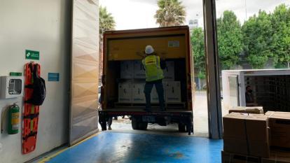 Colombia recibió este martes 540.540 dosis de vacunas Pfizer