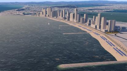 Contratan obras de protección costera sector El Cabrero en Cartagena