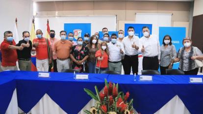 Gobernadora Elsa Noguera se compromete a fortalecer la política pública de líderes comunales