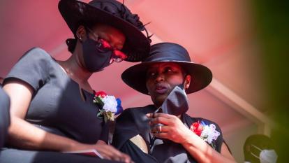 La primera dama de Haití llega al velatorio de Jovenel Moise