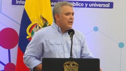 En Arroyohondo, Duque promulgó el internet como servicio público esencial