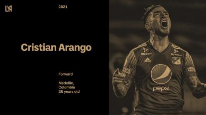 Cristian Arango jugará en la MLS de Estados Unidos