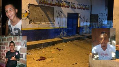 Dos muertos y un herido a bala en el barrio Galán de Santa Marta