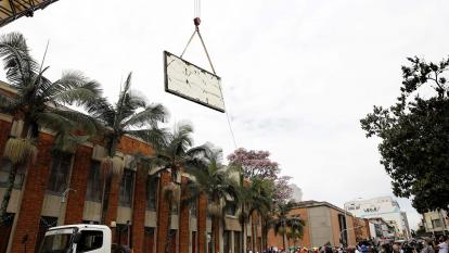 Mural de Fernando Botero es trasladado al Museo de Antioquia