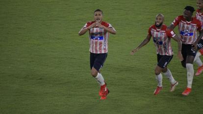 La especial dedicatoria de Larry Vásquez en su gol ante Pereira