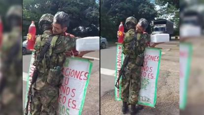 Conmovedor momento: padre sorprendió a su hijo soldado en su cumpleaños