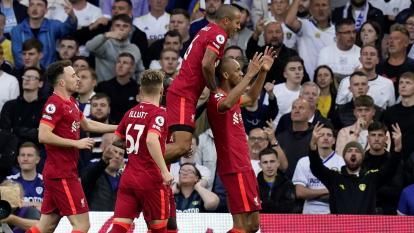 Liverpool goleó al Leeds de Bielsa como visitante en la Premier League