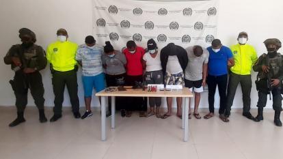Autoridades capturaron a siete integrantes de los 'Barrancos' en La Guajira
