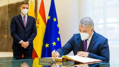 """""""Pasamos a otro nivel de relaciones con España"""": presidente Duque"""