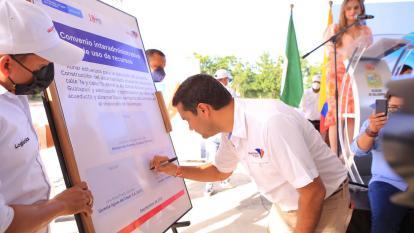 Firman convenio por $54 mil millones para alcantarillado pluvial en Valledupar