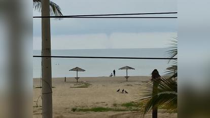 Se forma una tromba marina en Riohacha