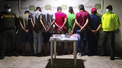 Caen siete por tráfico de estupefacientes en Santa Marta