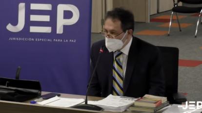 JEP recibe testimonio de Espinoza Garcés en caso de la UP