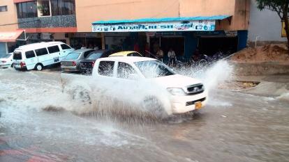 El aguacero de este sábado en Barranquilla
