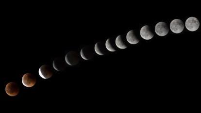 Los países que han visto el eclipse lunar más largo del siglo XXI