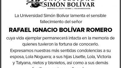 RAFAEL IGNACIO BOLIVAR ROMERO