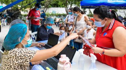 Así se vivió la jornada de vacunación para niños en el Zoológico