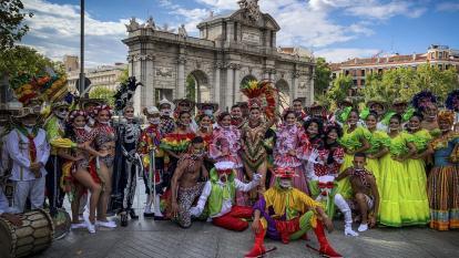 En imágenes | El Carnaval de Barranquilla se apodera de Madrid