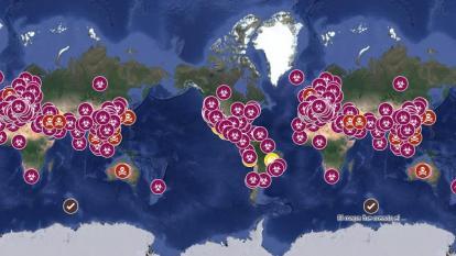 Vea aquí en tiempo real el comportamiento del coronavirus en el mundo