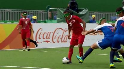 En video: El increíble gol de un jugador no vidente en los Juegos Paralímpicos Río 2016