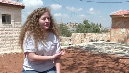 Ahed Tamim, la joven palestina que fue encarcelada durante ocho meses.