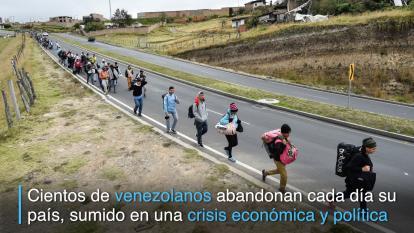 """""""Estar en otro sitio es mejor que estar en Venezuela"""":  éxodo masivo"""