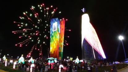 Encendido el árbol de Navidad más alto de Colombia