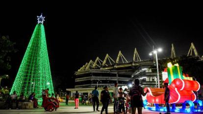 Así luce Barranquilla en Navidad