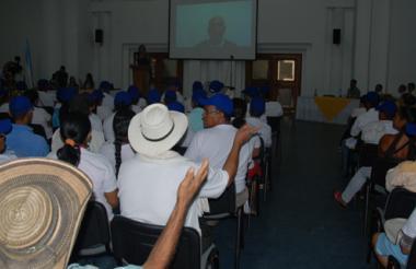 Al menos 300 víctimas de distintas zonas rurales de Córdoba asistieron al evento,  en el Centro de Convenciones.