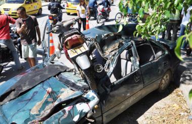 La Policía realiza simulacros de accidente para generar conciencia entre los conductores que conducen en estado de embriaguez.