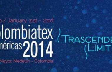 Afiche promocional de Colombiatex 2014.