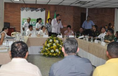 Aurelio Iragorri, ministro del Interior, presidió el comité de seguimiento electoral.