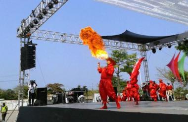 Diablos de Campo de la Cruz en el Festival de Danzas de Relación y Especiales.