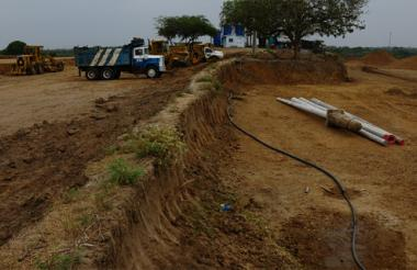 Imagen del terreno donde construirán las 195 soluciones habitacionales para los damnificados de Las Compuertas.