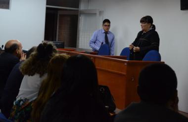 En un juzgado de Bogotá se realizó ayer la audiencia de reparación de víctimas.