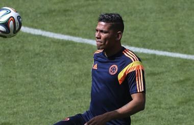 Alexander Mejía jugó sus primeros minutos en un Mundial.