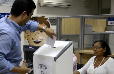 Aspecto de las pasadas elecciones realizadas en la CCB en agosto de 2013.
