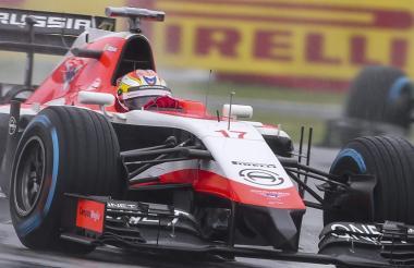 El Marussia-Ferrari de Bianchi en el GP de Japón.