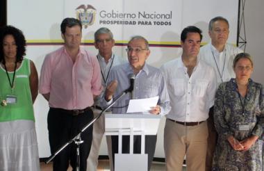 Delegación del Gobierno colombiano en los diálogos de paz de La Habana.