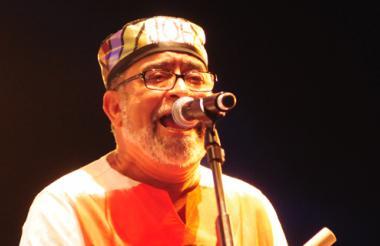 El salsero Andy Montañez en Barranquilla, durante su presentación en el Festival de Orquestas de 2012.