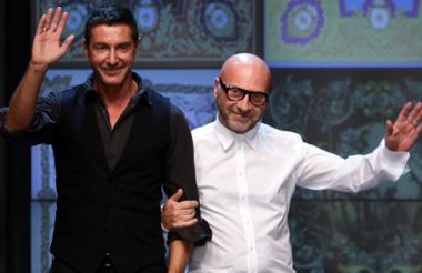 Stefano Gabbana y Doménico Dolce durante uno de sus desfiles.