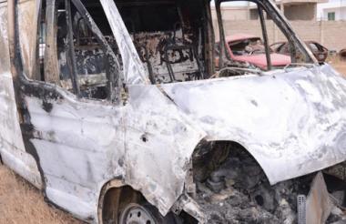 La ambulancia que fue consumida en su totalidad era de la empresa Urgencias Médicas Inmediatas, UMI.