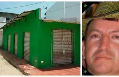 La tienda Ríos de Agua Viva, de propiedad de la víctima, cerrada ayer en la mañana.