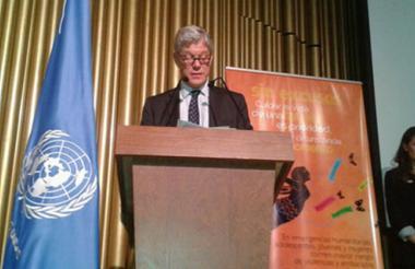 Fabrizio Hochschild, coordinador de la ONU en Colombia.